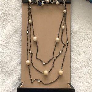 White House Black Market layered necklace